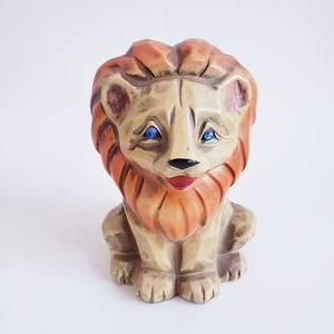 MCM Napco Lion Bank vtg Ceramic figurine